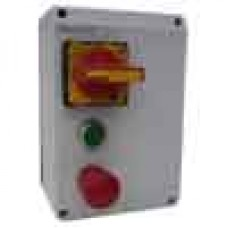 DOL starter 0.75kW with DC injection & E-stop button EN418 & isolator